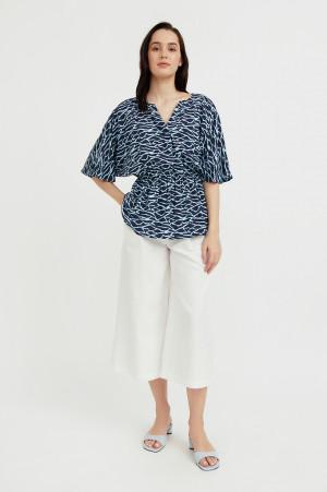блуза с принтом Finn-Flare