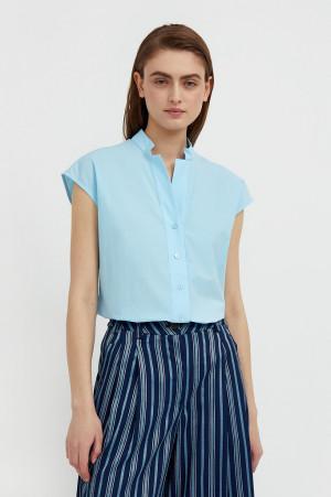 хлопковая блузка с коротким рукавом Finn-Flare