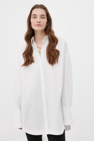 удлиненная женская рубашка оверсайз с манжетами Finn-Flare